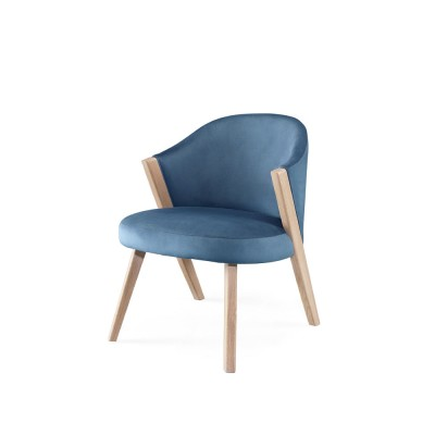 Caravela lounge chair oak blue Wewood