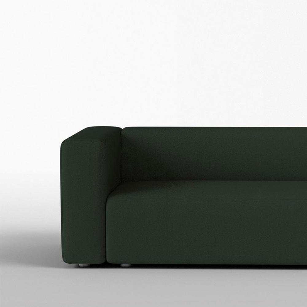 Agar 3 seater sofa olive felted wool Panac