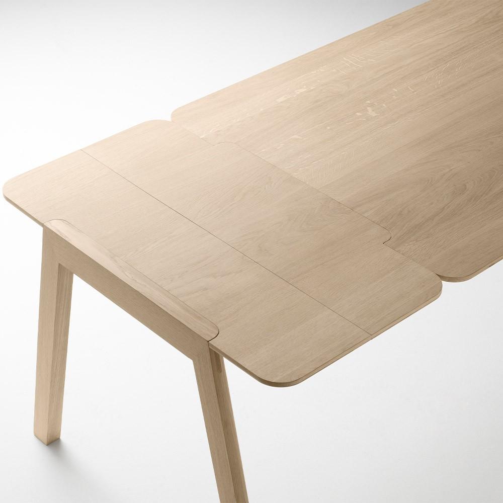 Kuskoa table with extension massive oak Alki