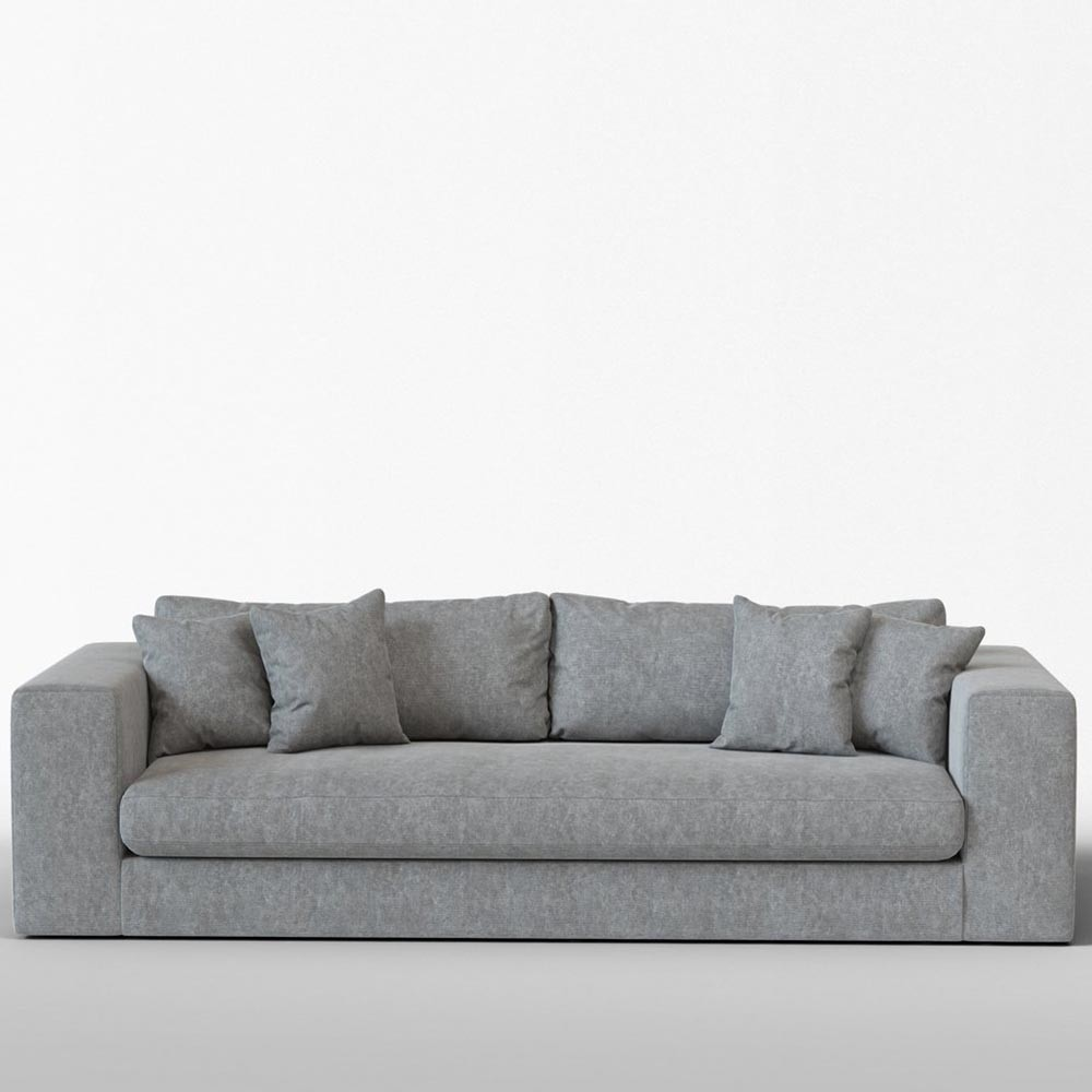 Bellechasse 4 seater sofa vintage cotton grey Panac