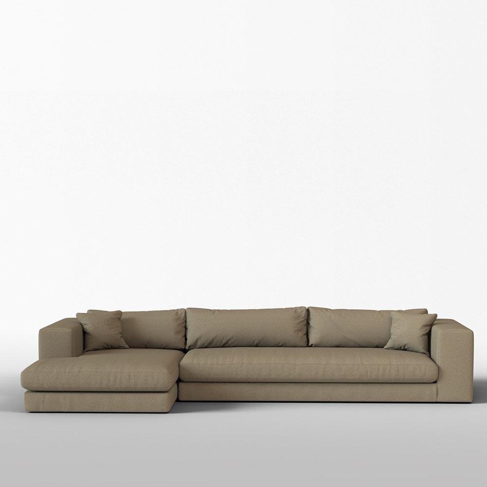 Corner sofa Bellechasse felted wool Kiezel L Panac