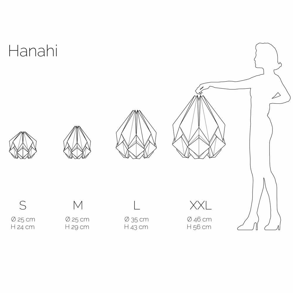 Hanahi Fall pendant lamp Tedzukuri Atelier