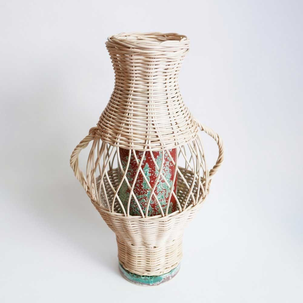 Rattan and Terracotta vase Datcha