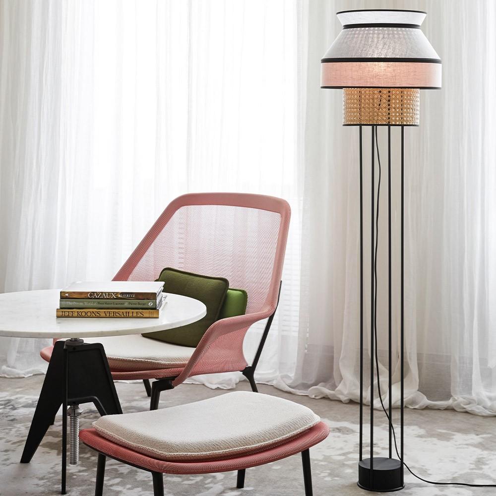 Singapour floor lamp light grey & pink Market Set