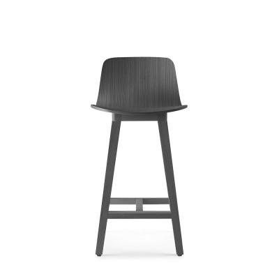 Kuskoa bar chair carbon oak H66 cm Alki