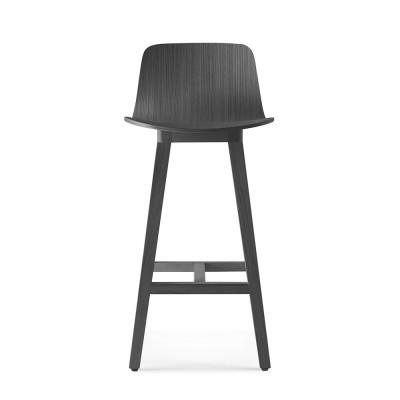 Kuskoa bar chair carbon oak H80 cm Alki