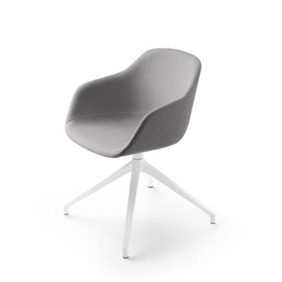 Kuskoa Bi office chair grey fabric shell Alki