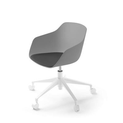 Kuskoa Bi office chair with wheels blioplastic shell clay & noir Alki