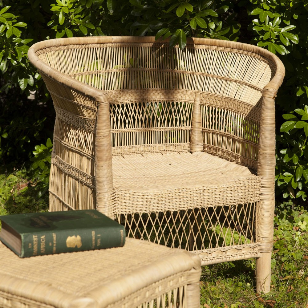 Malawi natural rattan armchair AS'ART