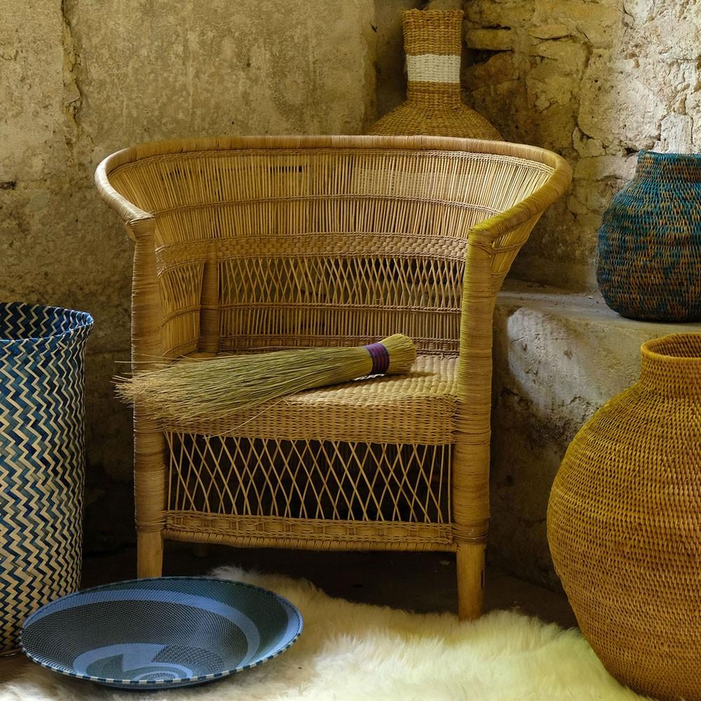 Fauteuil in natuurlijk rotan Malawi AS'ART