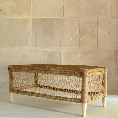 Malawi natural rattan bench AS'ART
