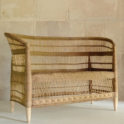 Malawi natural rattan double seater AS'ART
