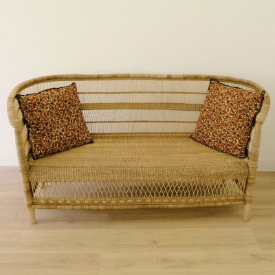 Malawi natural rattan three seater AS'ART