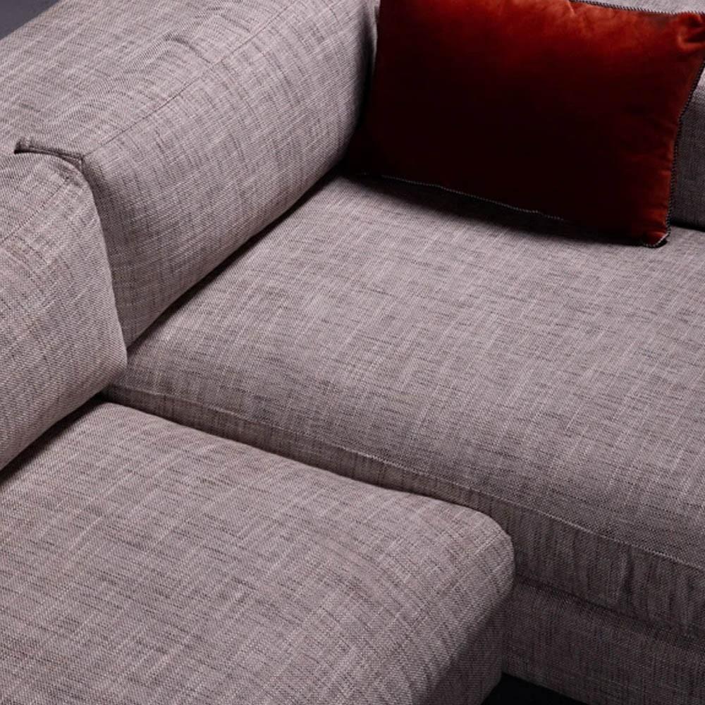 Corner sofa Bellechasse raw velvet moss L Panac