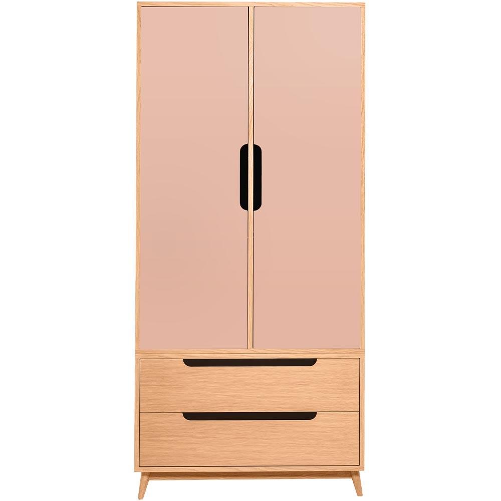 Folk wardrobe in oak and pink blush Kulile