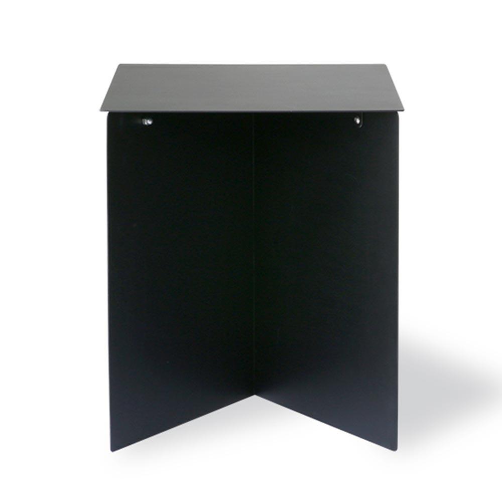 Rectangular black metal side table HKliving