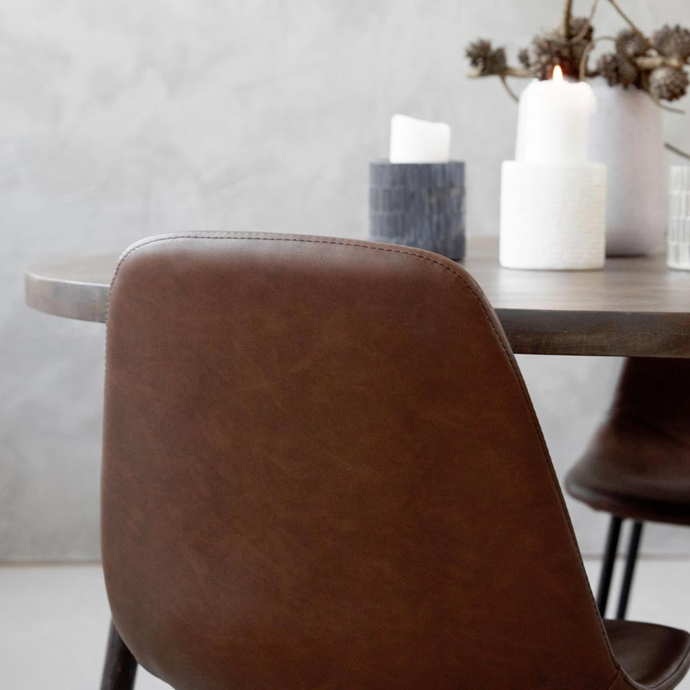 Chaise Forms brun House Doctor