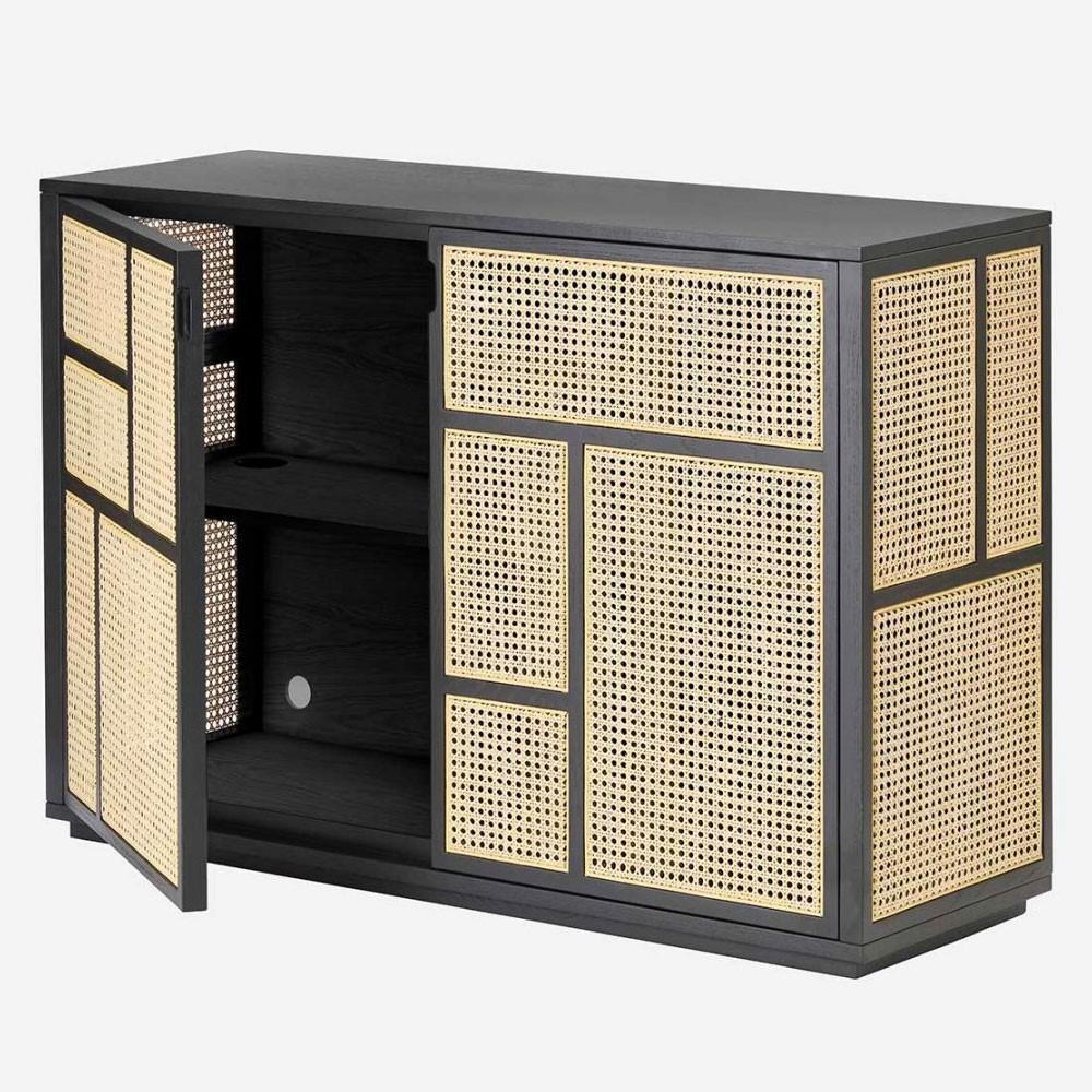Air dressoir zwart & riet Design House Stockholm