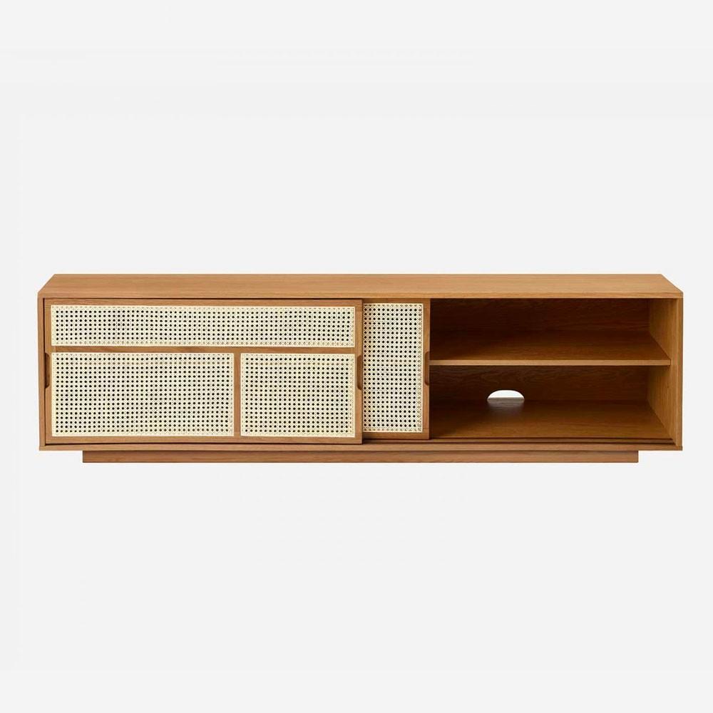Air low sideboard oak & cane Design House Stockholm