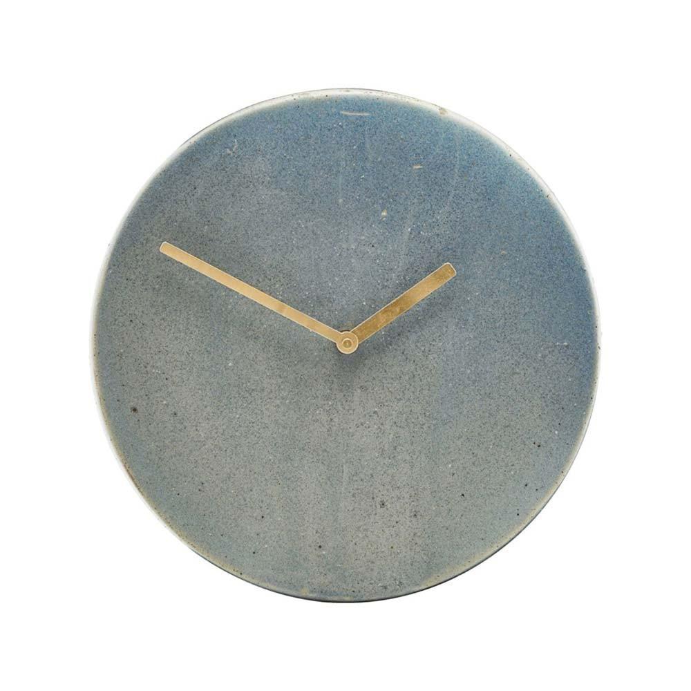 Horloge Métro gris & bleu House Doctor
