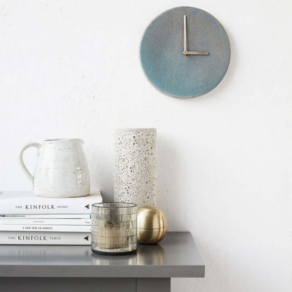 Metro wall clock grey & blue House Doctor