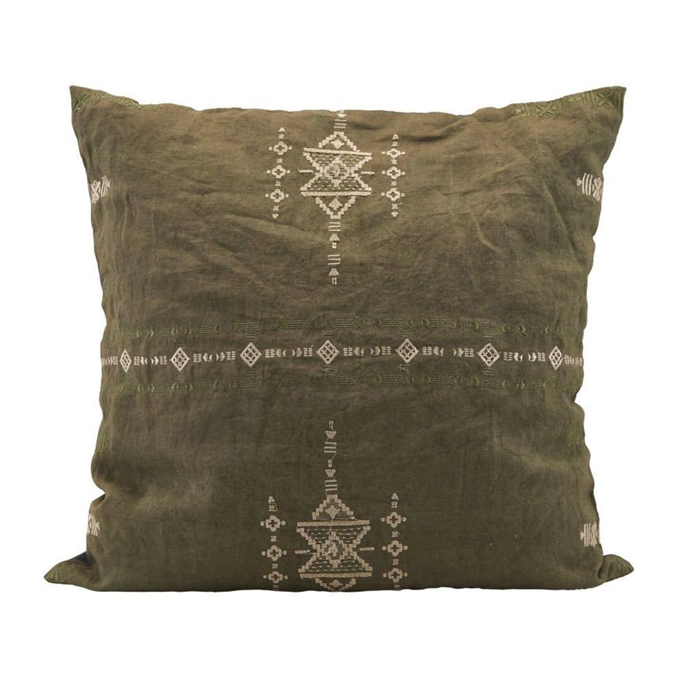 Inka green cushion House Doctor
