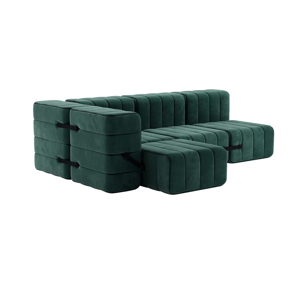 Set of 9 Curt modules - Barcelona fabric Ambivalenz