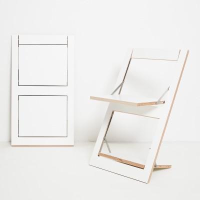 Folding chair Fläpps white Ambivalenz