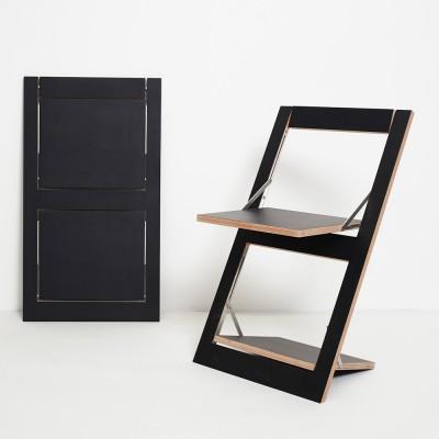 Fläpps folding chair black Ambivalenz