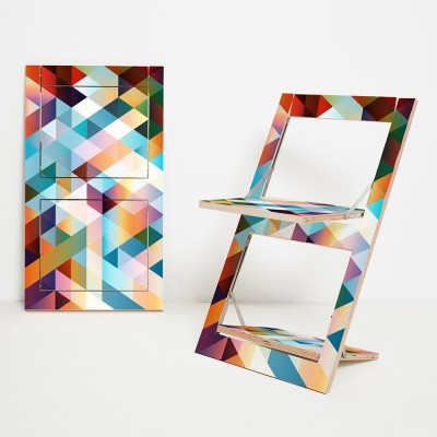 Folding chair Fläpps Criss Cross red Ambivalenz