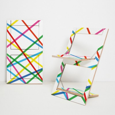Folding chair Fläpps Colored Lines Ambivalenz