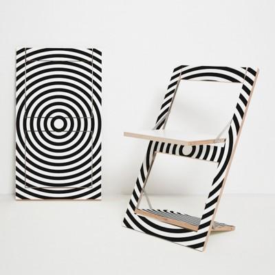 Fläpps Op Art Circle folding chair Ambivalenz