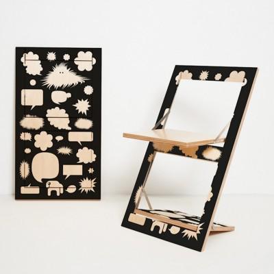 Fläpps Trouble Bubble folding chair Ambivalenz