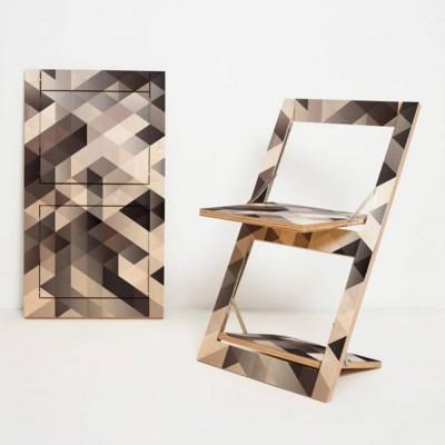 Folding chair Fläpps Criss Cross gray Ambivalenz