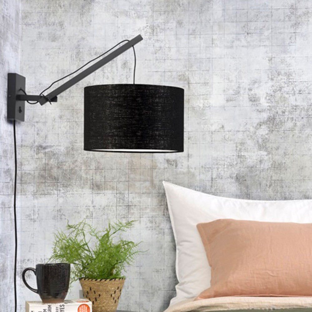 Andes wall lamp black & light gray S Good & Mojo