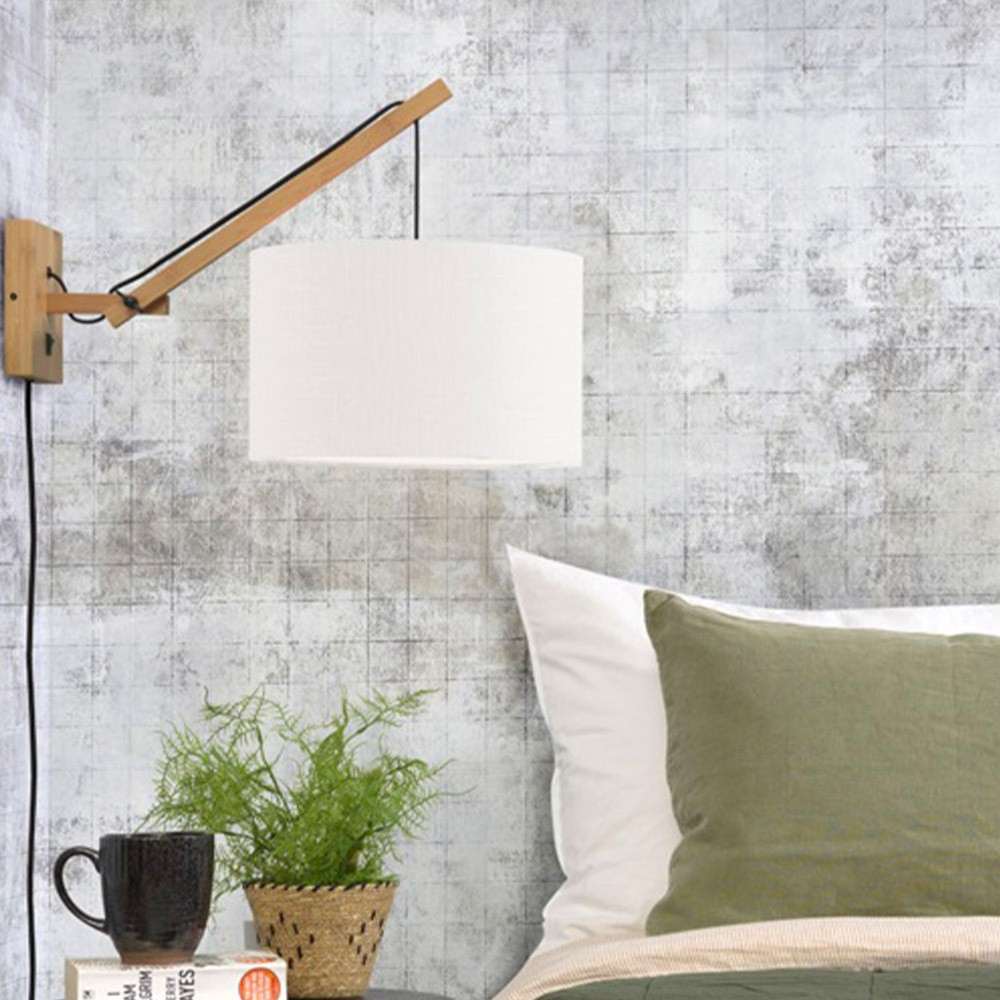 Wall lamp Andes natural & black S Good & Mojo