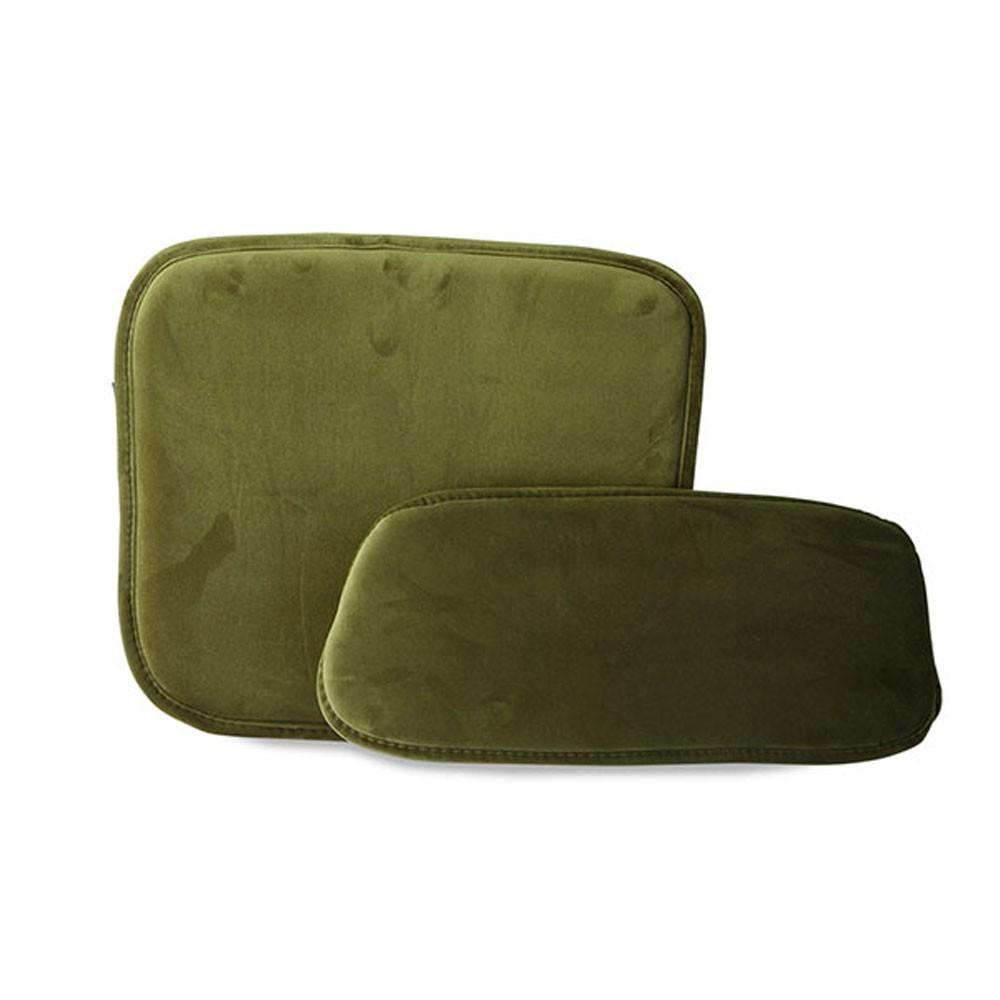 Kit de confort en velours vert pour tabouret de bar Wire HKliving