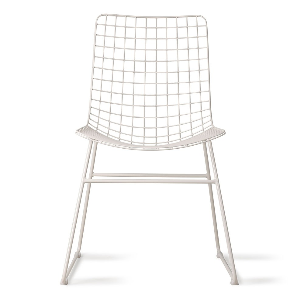 Metal wire chair white HKliving
