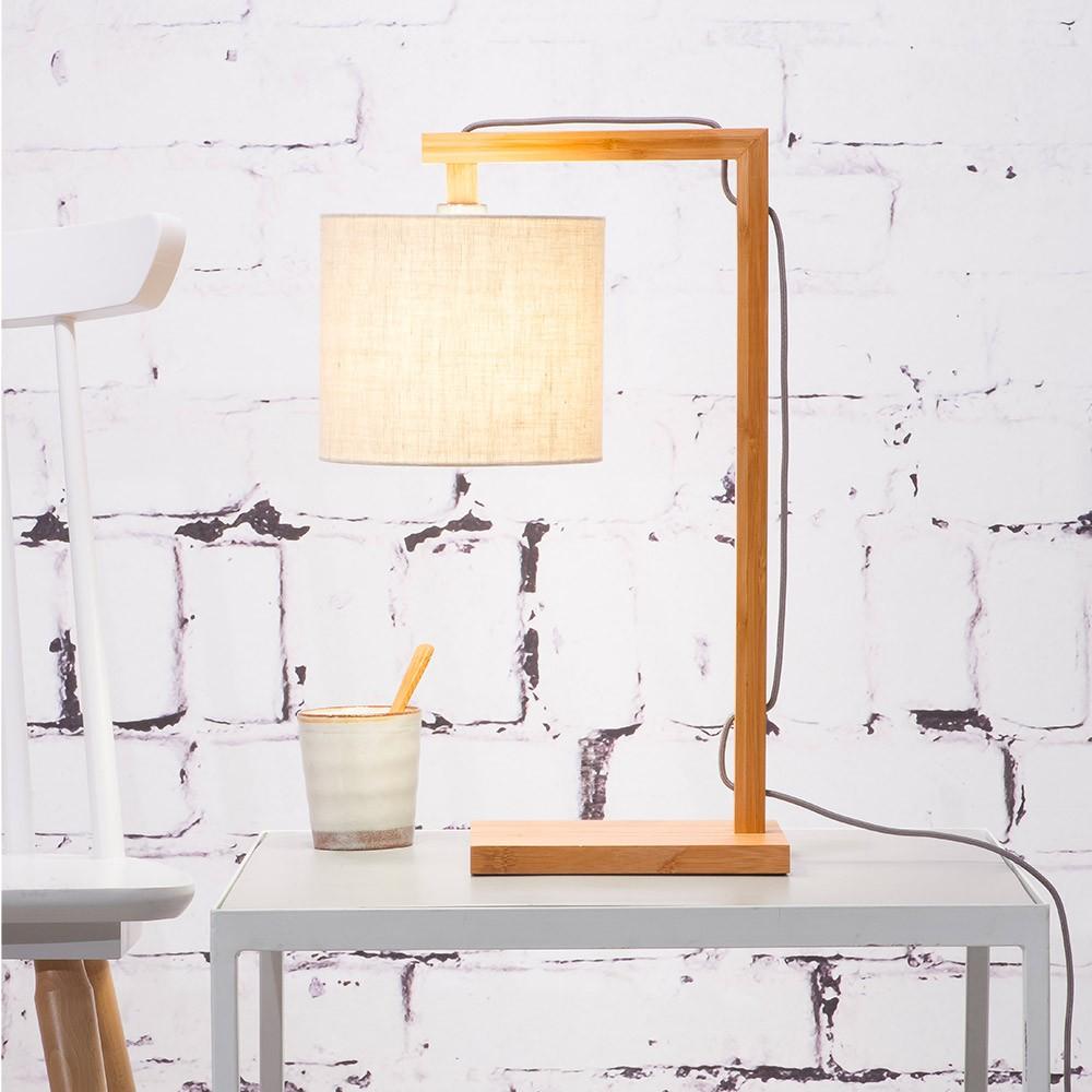 Himalaya table lamp natural & light linen Good & Mojo