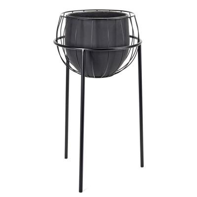 Cage flowerpot black Serax