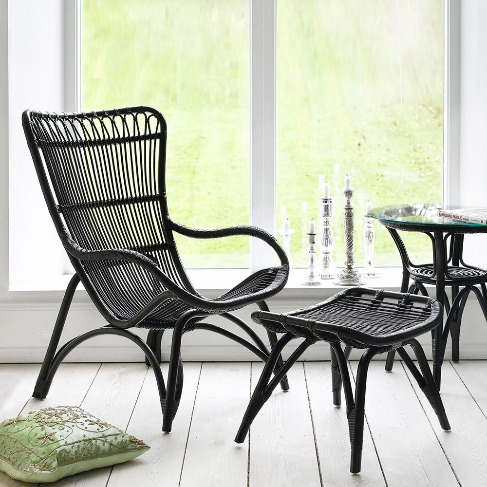 Fauteuil Monet noir Sika-Design