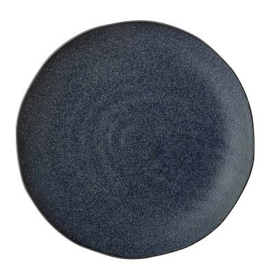 Plate Aura M blue Bloomingville