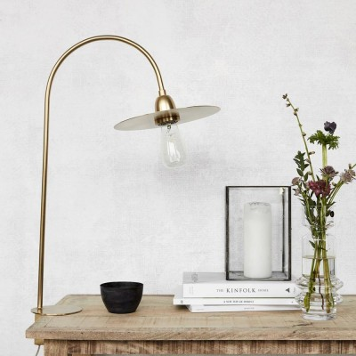 Glow table lamp brass