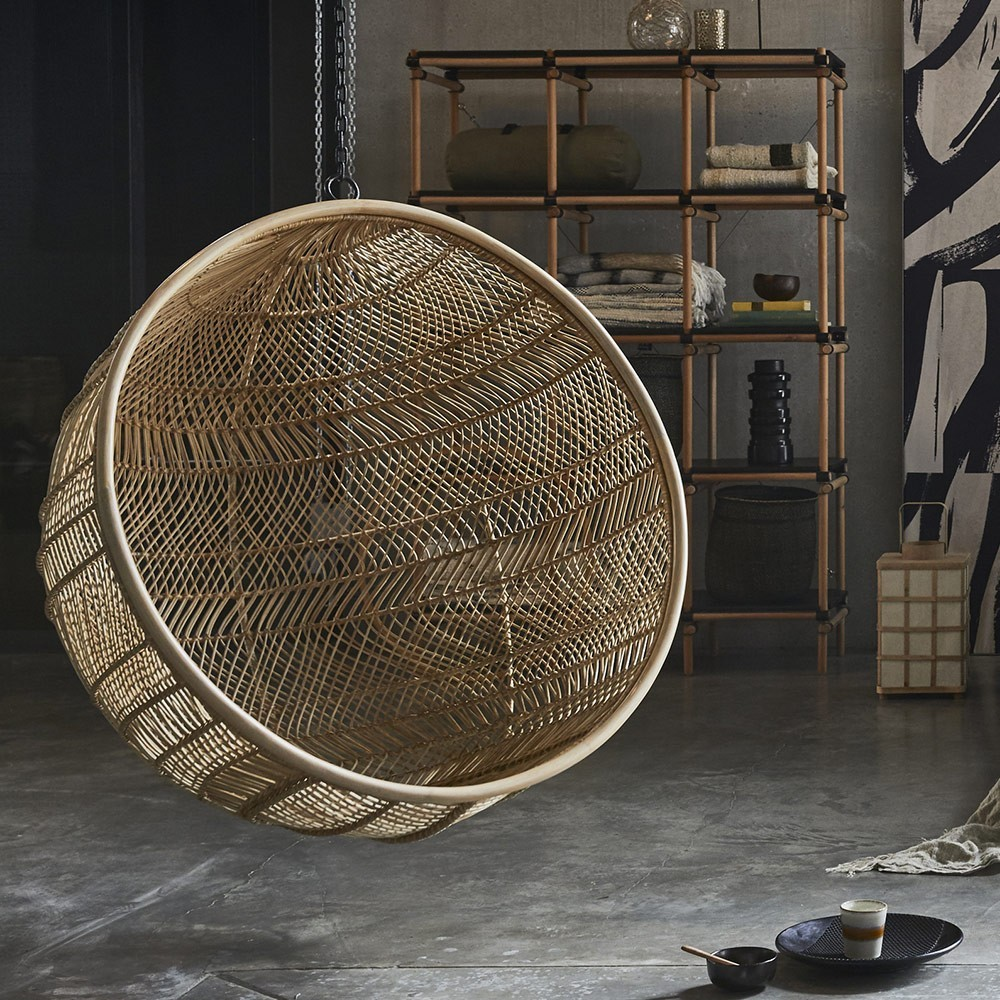 Rattan hanging bowl chair bohemian HKliving