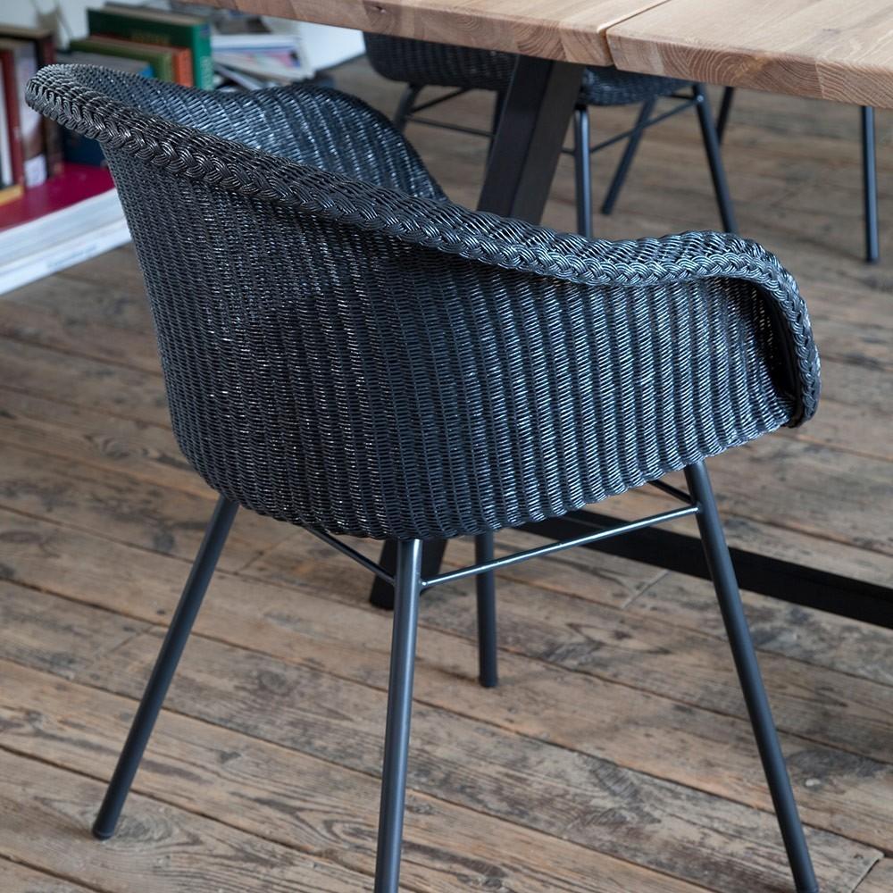 Chaise Avril base A acier Vincent Sheppard