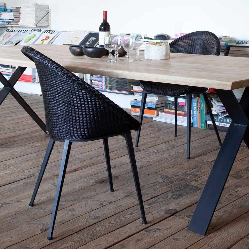 Jack dining chair steel base Vincent Sheppard
