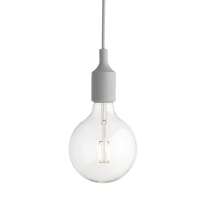 Light gray E27 pendant light Muuto