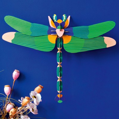 Giant dragonfly green wall decoration Studio Roof