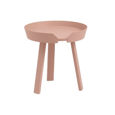 Around coffee table bronzed pink S Muuto