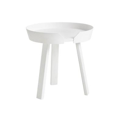 Around white coffee table Muuto